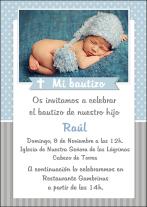 Invitación bautizo Raúl
